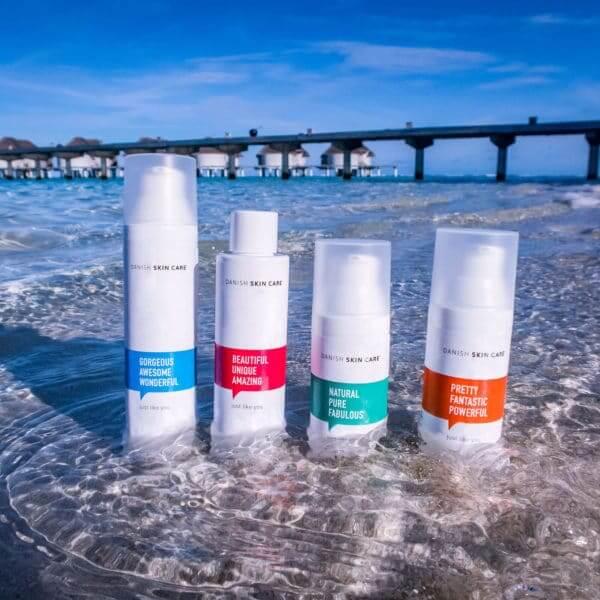 hudpleje vand bro strand